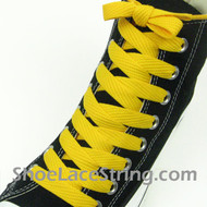 Golden Yellow 54IN Fat Laces Gold Wide/Fat Shoe Strings 1 Pairs