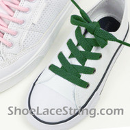 Kids Green 27INCH ShoeLaces Childs Green ShoeStrings 2Pairs