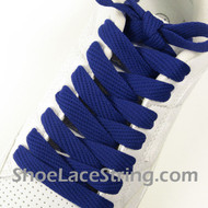 Blue 54INCH Fat Laces Blue Flat Wide/Fat Shoe Strings  1 Pairs
