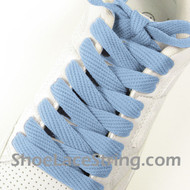 Light Sky Blue 54IN Fat Laces Light Blue Wide Shoe String  1 Pairs
