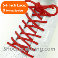 "Red Round 54INCH Shoe Laces Red 54"" Round Shoe Strings 1Pairs"