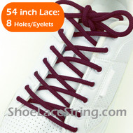 "Maroon 54IN Round Shoe Laces Maroon Round 54"" Shoe Strings 1 PRs"