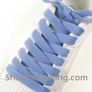 "Light Blue Fat 54"" Lace Light Blue Flat Wide/Fat ShoeString 2PRs"