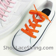 Kids Orange 27INCH ShoeLaces Childs Orange ShoeStrings 2Pairs