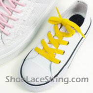 Kids Yellow 27INCH Shoe Lace Children Yellow Shoe Strings 2Pairs