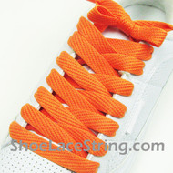 Orange 54INCH Fat Laces Orange Flat Wide/Fat Shoe Strings 2Pairs