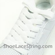 White 54INCH Fat Laces White Flat Wide/Fat Shoe Strings  1 Pairs