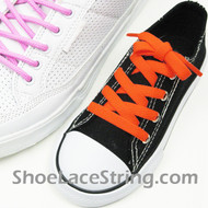 Kids Neon Orange 27INCH ShoeLaces Neon Orange ShoeStrings  1 Pairs