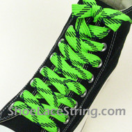 Neon Green and Navy Fat Laces Wider Shoe Strings 52INCH 1 PAIRS