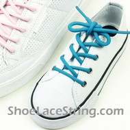 Kids Turquoise Round ShoeLace Turquoise Round ShoeString 2Pairs