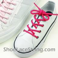 Kids Hot Pink Round Shoe Lace Hot Pink Round Shoe String 1 Pairs