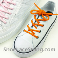 Kids Orange Round Shoe Laces Orange Round Shoe Strings 1 Pairs