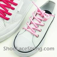 Kids Light Pink Round ShoeLace LightPink Round ShoeString 2Pairs