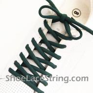"""Dark Green 54"""" Oval Shoe Lace Dark Green Oval Shoe String 2Pairs"""