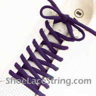 Purple 54INCH Oval Shoe Lace Purple  Oval Shoe String 2Pairs