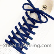 Blue 54INCH Oval Shoe Lace Blue Oval Shoe String 2Pairs