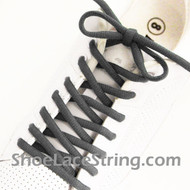 "Charcoal Gray 54"" Oval ShoeLace Charcoal Grey Oval String 1 PRs"