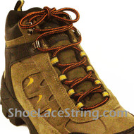 Tan and Black 54INCH Work Boots Laces String, 1Pair