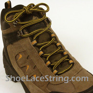 Yellow and Black 54 INCH BootLace Work Boots String 1Pair