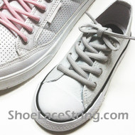 Light Grey Kids/27INCH Oval ShoeLace Gray Oval ShoeString  1 Pairs
