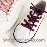 Maroon Kids Oval ShoeLace Maroon/Burgundy Oval ShoeString 1 Pairs