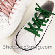 Green Kid's/27INCH Oval ShoeLace Green Oval ShoeString 1 Pairs