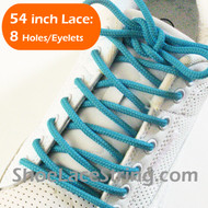Turquoise Round 54IN ShoeLace Turquoise Round Shoe Strings 1 PRs