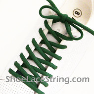 Green 54INCH Oval ShoeLace Green Oval ShoeString 1 Pairs
