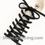 Black 54INCH Oval Shoe Lace Black Oval Shoe String 1 Pairs