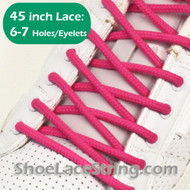 Hot Pink 45INCH Round Shoe Lace HotPink Round Shoe String 1 PAIRS