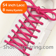 Hot Pink 54INCH Round Shoe Lace HotPink Round Shoe String 1 PAIRS