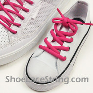 Hot Pink 27inch or Kids Oval ShoeLace Hot Pink Oval String 1 Pair