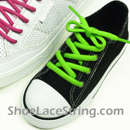 Neon Green 27inch or Kids Oval ShoeLace Replacement String 1 Pair