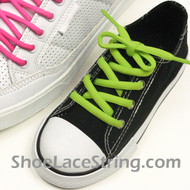 Lime Green 27inch or Kids Oval ShoeLace Replacement String 2Pair