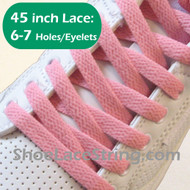 Pink 45INCH Flat Shoe Laces Pink Flat Shoe Strings 1 PAIRS