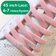 Light Pink 45INCH Flat Shoe Lace LightPink Flat Shoe String  1 PRs