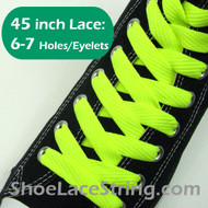 Neon Yellow 45IN Fat Laces Neon Yellow Flat Wide ShoeString 1 PRs