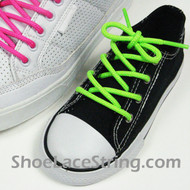 Neon Green Kids/27IN Round Shoe Lace NeonGreen ShoeString  1 Pairs
