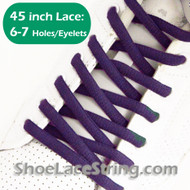 Purple 45INCH Oval Shoe Laces Purple Oval ShoeStrings  1 PAIRs