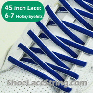 "Blue and White Oval 45IN Shoe Laces Oval 45"" Shoe Strings 1 PRs"