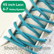 Turquoise 45IN Round Shoe Lace Turquoise Round Shoe String 1 PRs