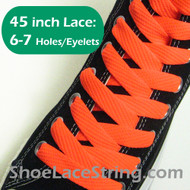 Neon Orange Flat Fat/Wide 45INCH Shoe Laces ShoeStrings 1 PRs