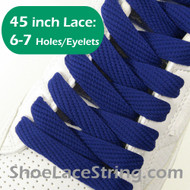 Blue Flat Fat/Wide 45INCH Shoe Laces Shoe Strings 1 PRs