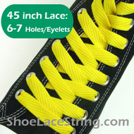 Yellow Flat Fat/Wide 45INCH Shoe Laces Shoe Strings 1 PRs