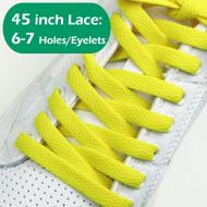 "Yellow Flat 45INCH ShoeLaces Yellow 45"" Flat Sneaker String  1 PRs"