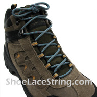 "Grey/Gray & Sky/Light Blue 54"" Hiking/Work Boot Round Lace 1Pair"
