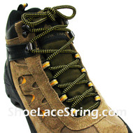 "Yellow and Black 54"" Hiking/Work Boots Round Shoe Laces, 1Pair"