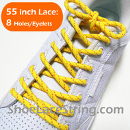 Yellow and Pink 55INCH Round Shoe Laces Strings 2Pairs