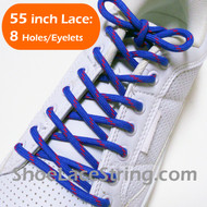 Blue and Red 55INCH Round Shoe Laces Strings 2Pairs