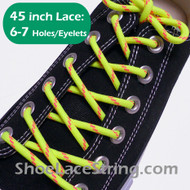 Neon Yellow & Neon Pink 45INCH Round Laces ShoeStrings 1 Pairs
